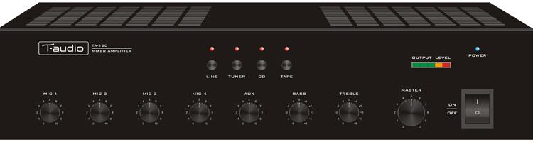 banner T-audio mengversterkers