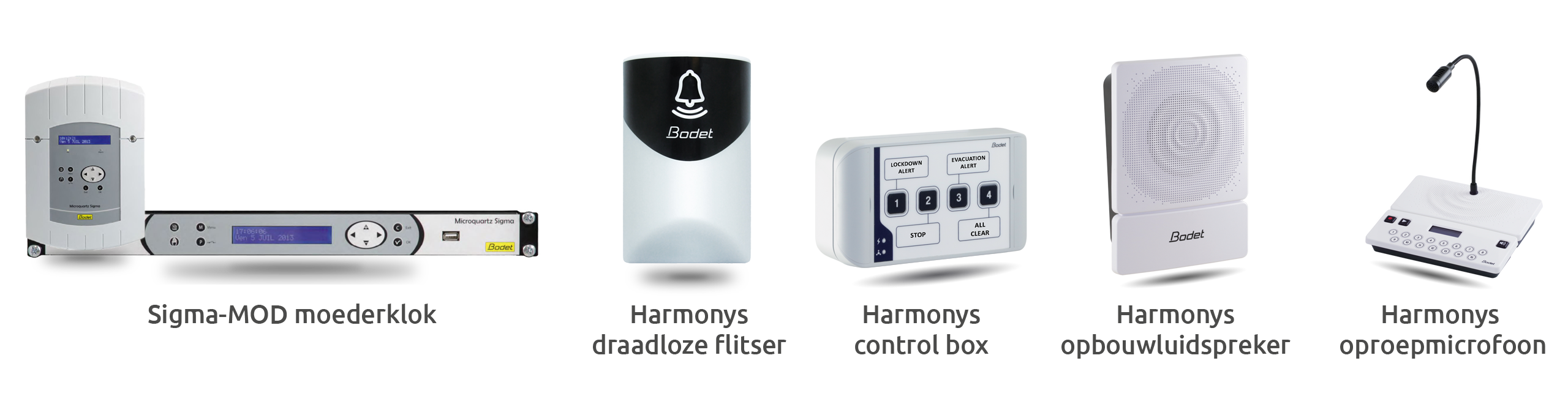 Bodet tijdsignaleringssysteem harmonys