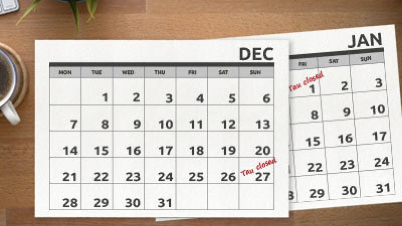 Openingstijden kerst en jaarwisseling image nieuwsoverzicht 400x325