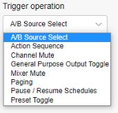 Ashly mXa-1502 trigger operation screenshot