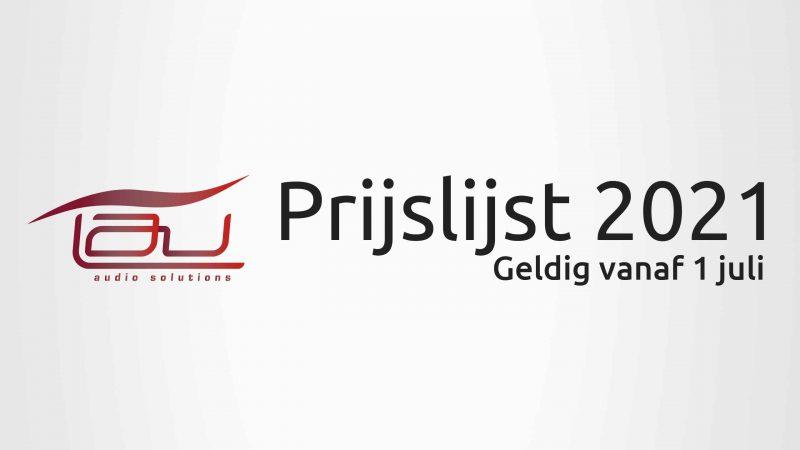 Prijslijst juli 2021