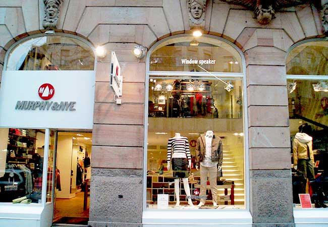 SolidDrive toepassing Retail etalage